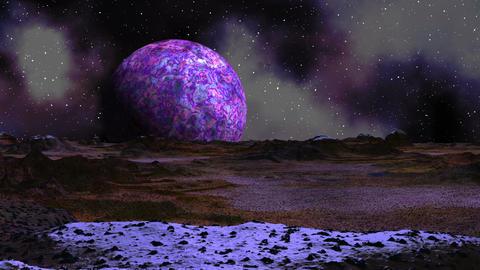 Sunrise purple planet Animation