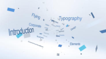 Flying Typography Logo - After Effects Template After Effects Template