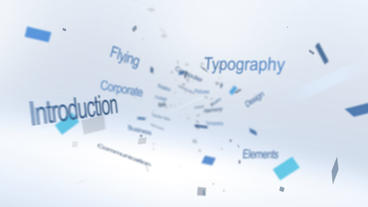 Flying Typography Logo - After Effects Template After Effects Project
