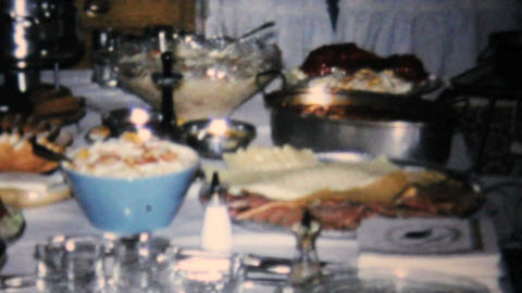Bridal Shower Dinner Party 1967 Vintage 8mm Film stock footage
