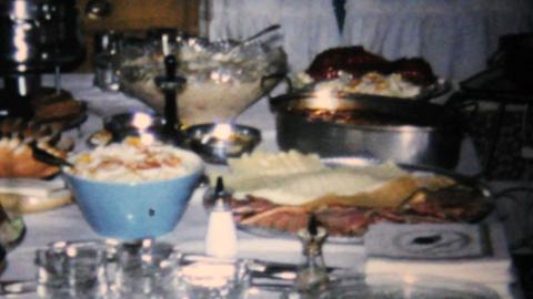 Bridal Shower Dinner Party 1967 Vintage 8mm film Live Action