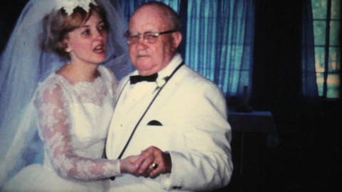 Bride Dancing With Grandfather At Wedding 1966 Footage