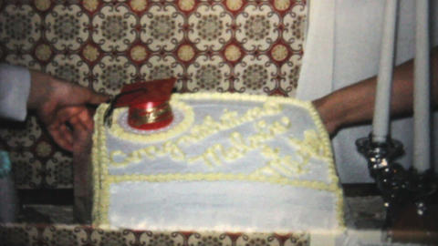 High School Graduation Cake And Party 1966 Vintage Footage