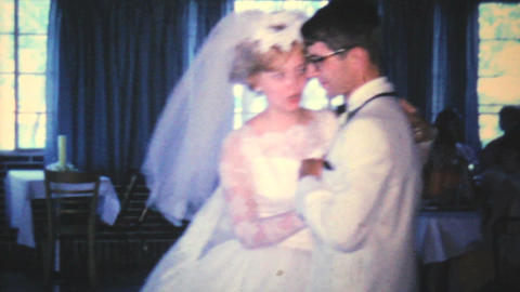 Newlywed Couple Enjoying First Dance 1966 Vintage Footage