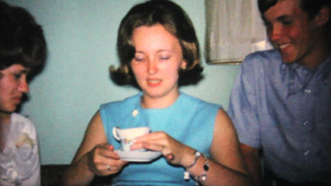 Opening Gifts At Bridal Shower Party 1967 Vintage stock footage