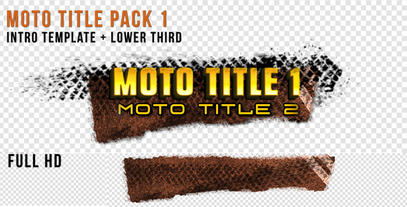 Moto Title 1 stock footage
