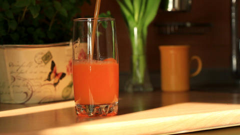 Pouring Juice stock footage