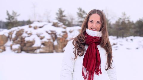 Winter Girl. No hat Footage