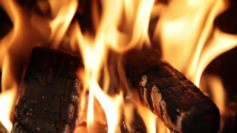 Burning Fire. Tilt stock footage
