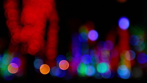 HD loopable video of blurred blinking Christmas li Footage