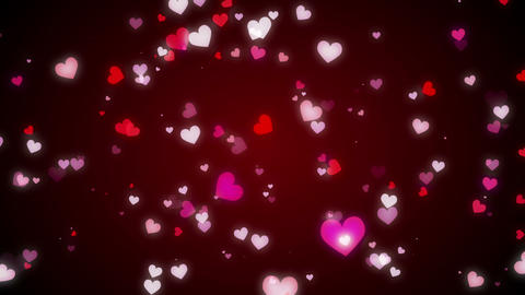 Loopable Shooting Heart red HD Animation