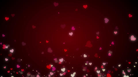 Loopable Rising Heart red HD Animation