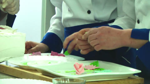 Cook Hands Making Sweets stock footage