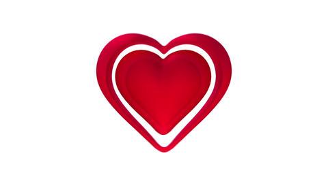 Pulsating red heart, Banco de Videos Animados