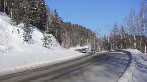 Winter Mountain Road M-54 (02) Footage