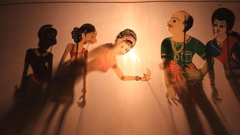 Thai Shadow puppet Footage