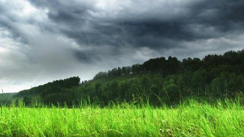 cloudy landscape Footage