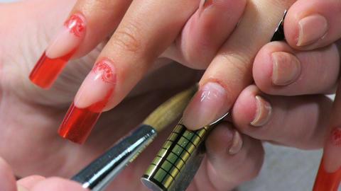Manicure making Footage