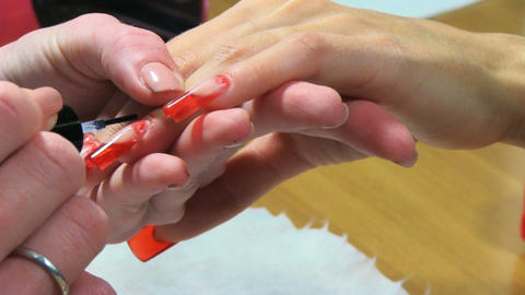 Manicure making Footage