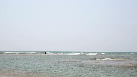 Surf washing onto beach Footage