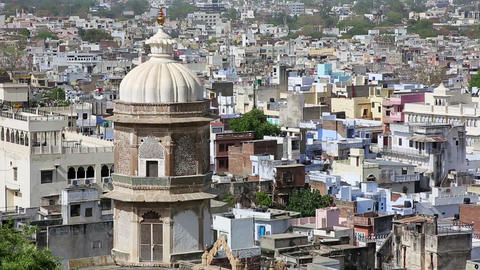 View of residential district, Udaipur Live Action