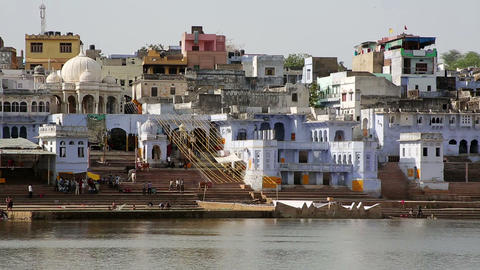 View of Pushkar, Rajasthan, India Footage