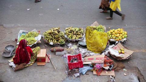 Street vendors Footage