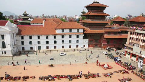 Daily traffic in Kathmandu Footage