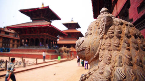 Everyday scene at patan Durbar Square, Kathmandu,  Footage
