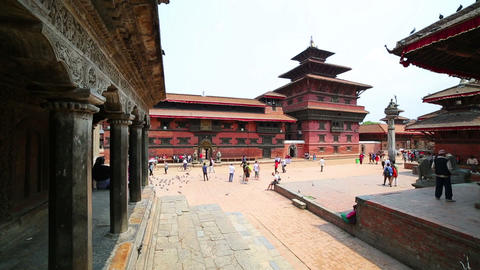 Everyday scene at patan Durbar Square, Kathmandu,  Footage