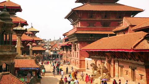 Patan Durbar Square, Kathmandu, Nepal Footage