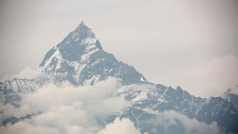 machapuchare summit, annapurna view from pokhara Footage