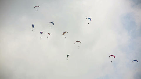 Paraglides in the sky Footage