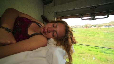 Trans Siberian train journey Footage