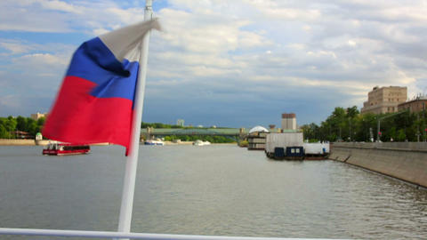 Boat trip in moscow Footage
