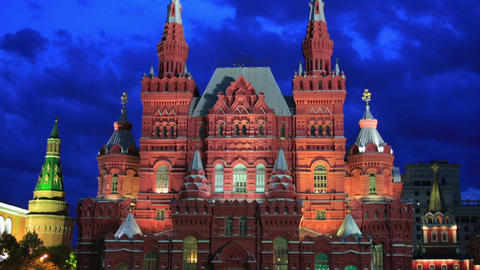 Red Square, Moscow at night Footage