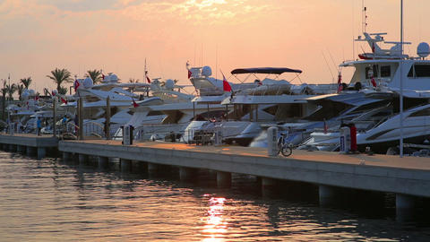 Yatchs in Marina, Bodrum, Turkey Footage