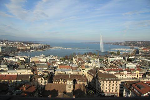 4K / 5K - Geneva timelapse in winter Footage