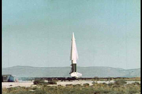 A guided missile launches into space Footage