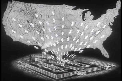 American Industry Is Developing In 1933 stock footage