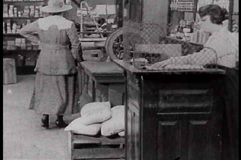 Activities inside a country store or general store Footage