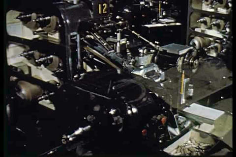 The advantages of automation in a factory environm Footage