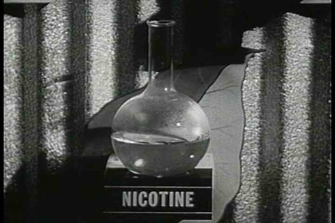Scientists analyze the content of cigarettes and a Footage