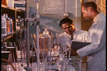 A Laboratory Tests The Vital Signs Of Astronauts I stock footage