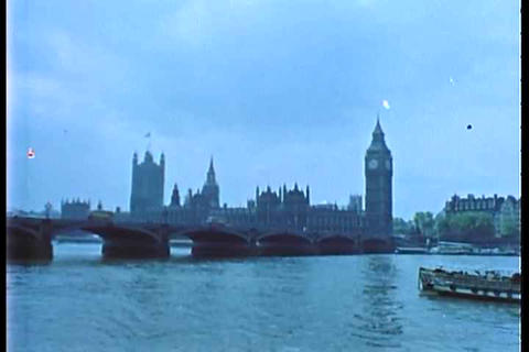 An archival shot of London in the 1950's Live Action