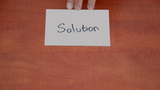 Interlocutor Writes The Word Solution stock footage