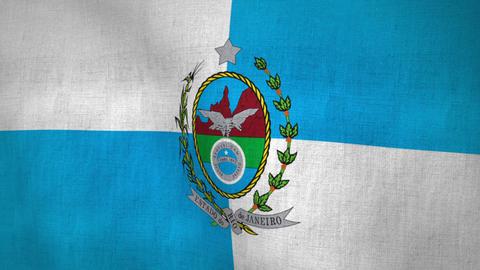 Rio de Janeiro State Flag Animation