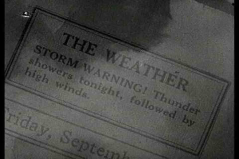 Weather Is Explained In This Early Film About Vacu stock footage