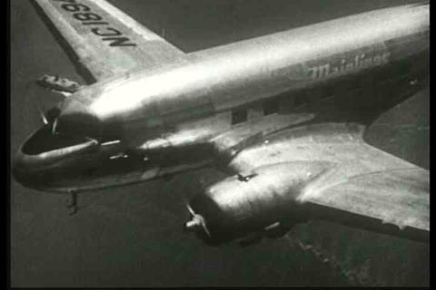 Aerials Of The United Airlines Mainliner Flying An stock footage