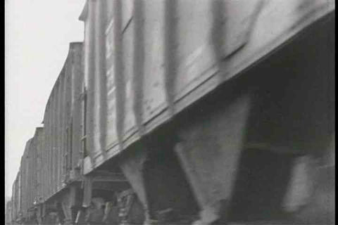 Musical montage of steam freight trains circa 1940 Footage